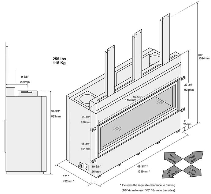 Travis 4415 Ho Linear Gas Fireplace Direct Vent