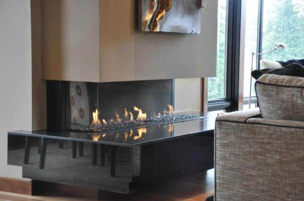 Ortal Custom Direct Vent Linear Fireplaces