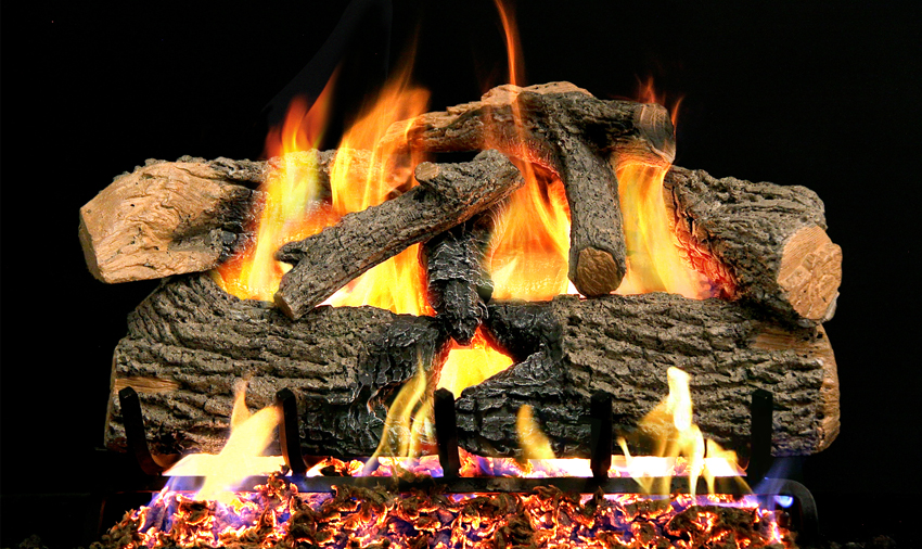 Realfyre Charred Overgreen Oak Vented Gas Logs