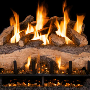 Realfyre Mountain Crest Split Oak Vented Gas Logs