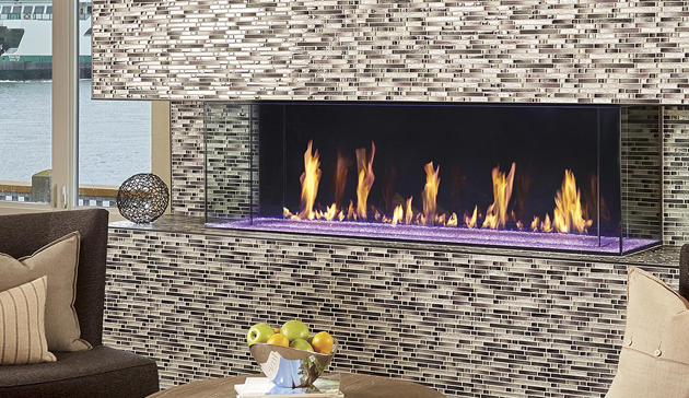 DaVinci Custom Direct Vent Linear Fireplaces